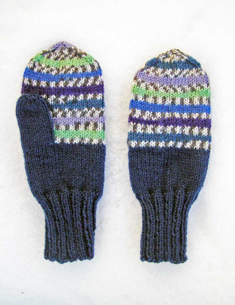 Tobie's Mittens knitting pattern for babies and kids designed by Holli Yeoh