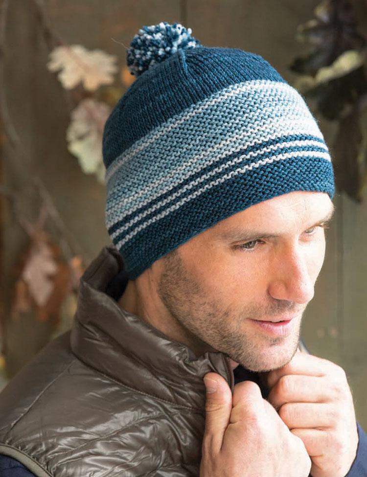 Garter Stitch Cap knitting pattern by Holli Yeoh   Knit Simple Magazine Fall 2015
