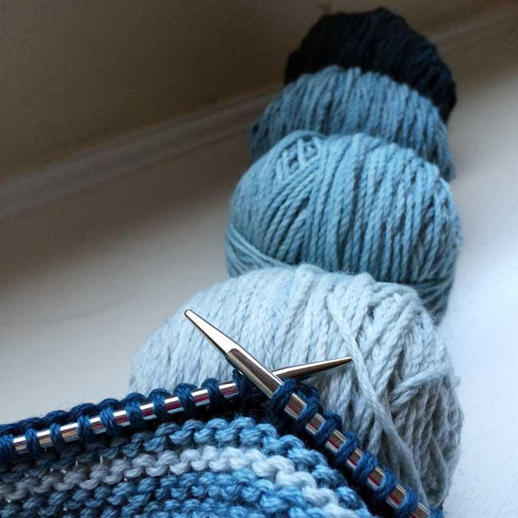Garter Stitch Cap WIP