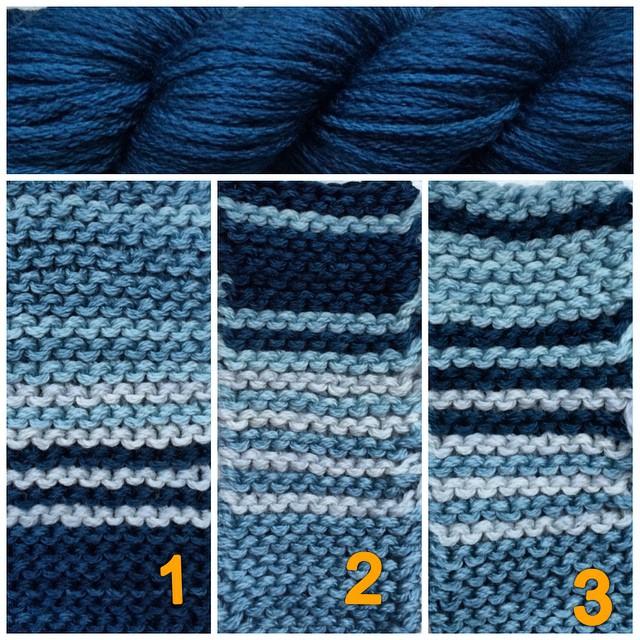 Garter Stitch Cap colourways