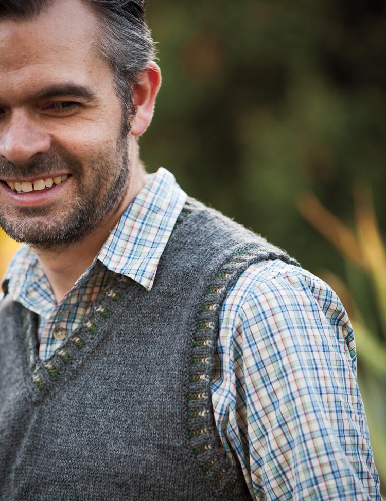 Corrugated Vest knitting pattern by Holli Yeoh | published in Knit Picks Heritage Collection