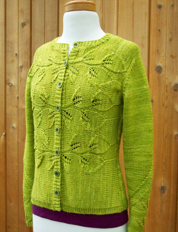 Philodendron cardigan knitting pattern designed by Holli Yeoh | Twist Collective Fall 2015