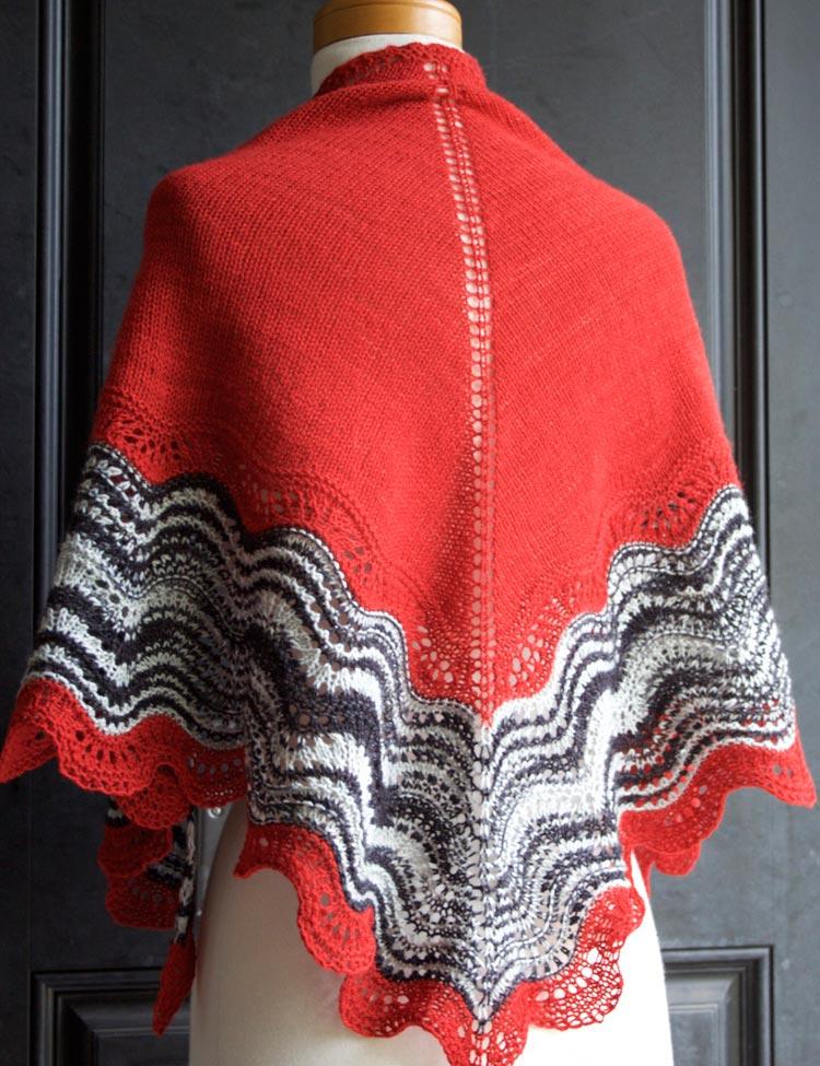 Hot Shawl knitting pattern by Holli Yeoh   River City Yarns